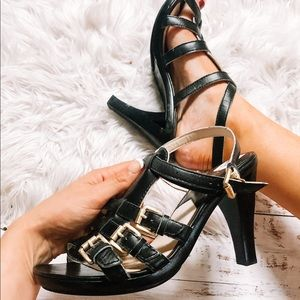 Michael Kors buckle strap heels size 10!